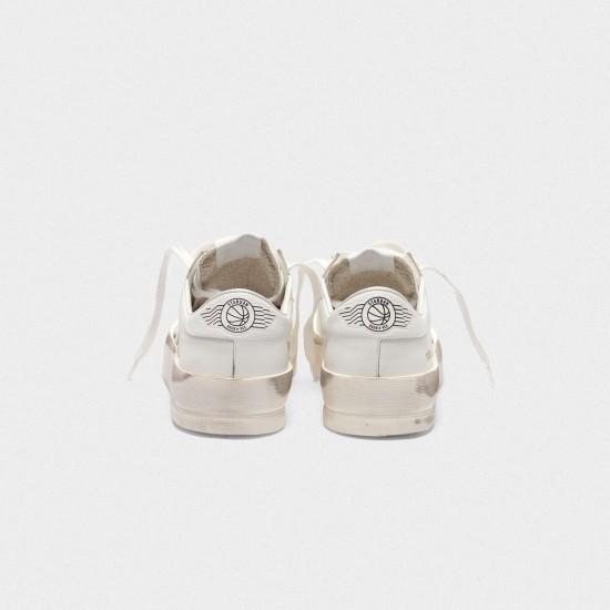 Men/Women Golden Goose stardan in total white leather sneaker