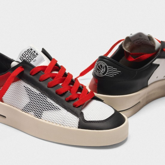 Men/Women Golden goose stardan red white leather with mesh inserts sneaker