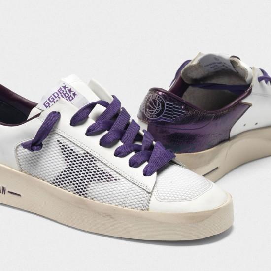 Women Golden Goose stardan with star and heel tab in metallic purple sneaker