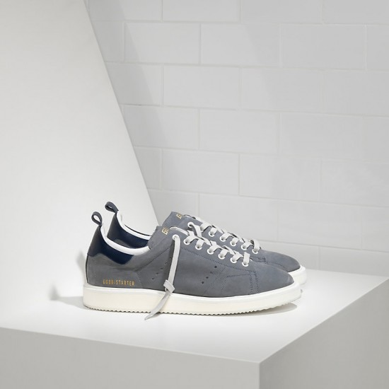 Men Golden Goose starter in dark grey sneaker