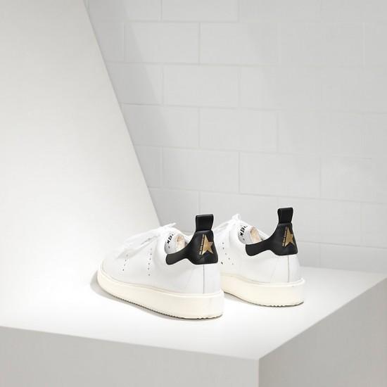 Men Golden Goose starter in white black sneaker