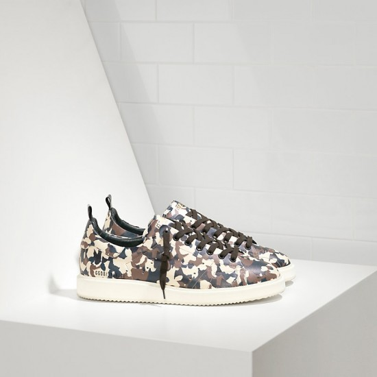Men Golden Goose starter in calf leather camouflage sneaker