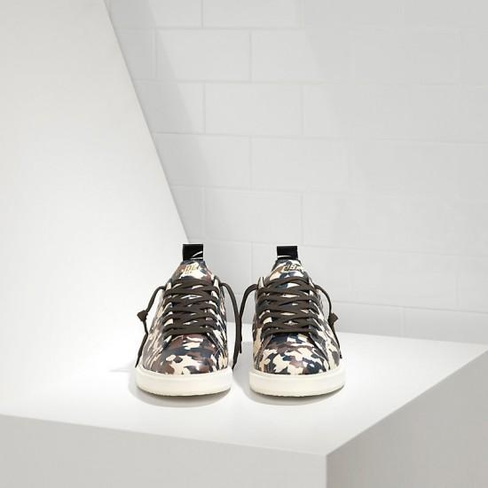Men Golden Goose starter in calf leather camouflage sneaker