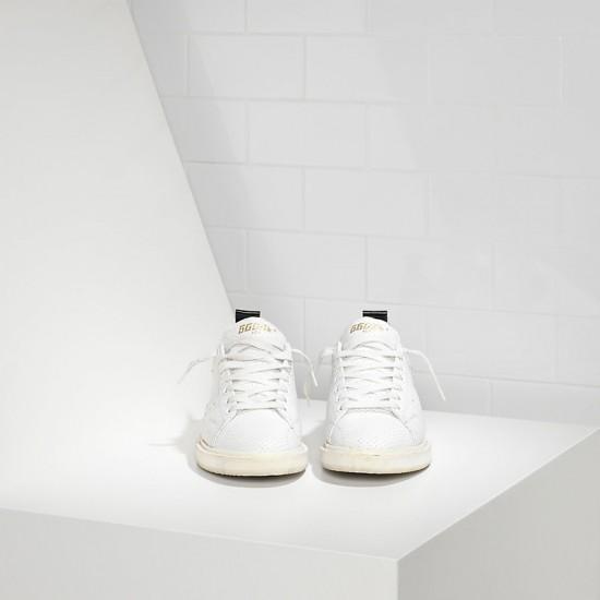 Men/Women Golden Goose starter in traforata white spot sneaker