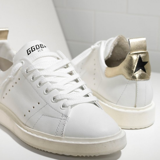 Men/Women Golden Goose starter in white gold sneaker