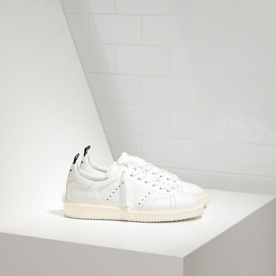 Men/Women Golden Goose starter in calf leather white white sole sneaker