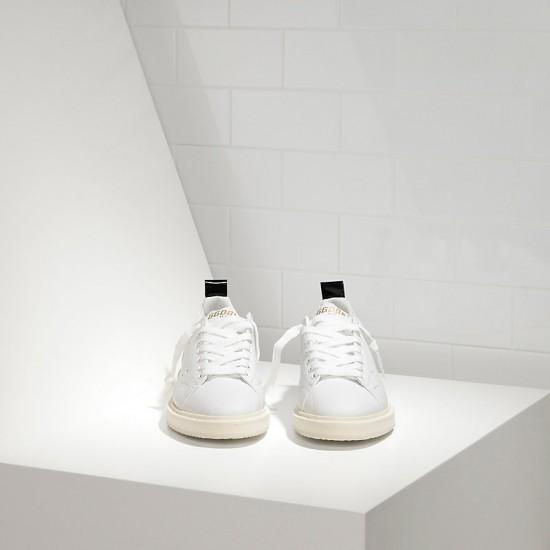 Men/Women Golden Goose starter in calf leather white white sole sneaker