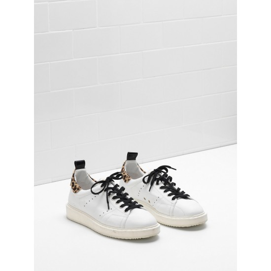 Women Golden Goose starter upper in effect leather sneaker