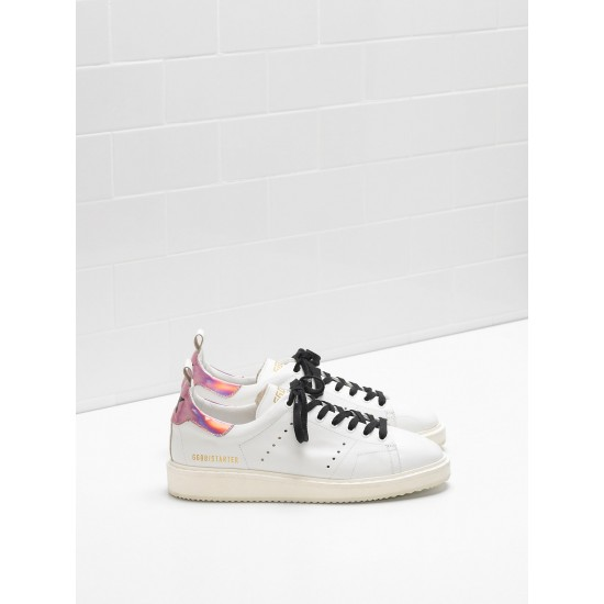 Women Golden Goose starter upper in iridescent material sneaker