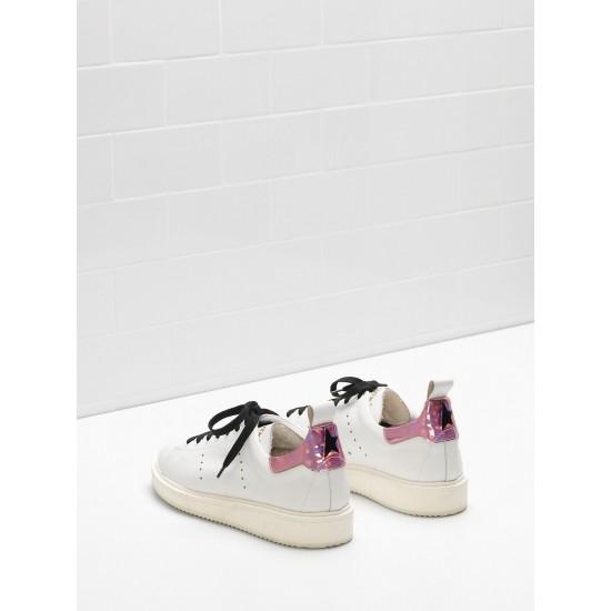 Women Golden Goose starter upper in iridescent material sneaker
