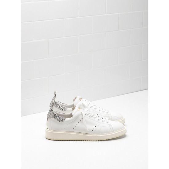 Women Golden Goose starter upper in natural calf leather color sneaker