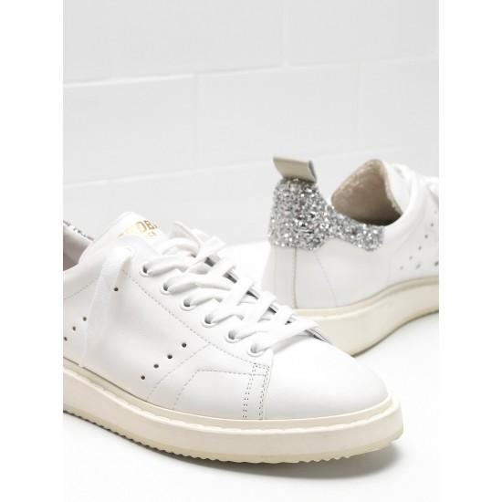 Women Golden Goose starter upper in natural calf leather color sneaker