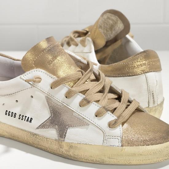 Men/Women Golden Goose superstar in gold white suede star sneaker