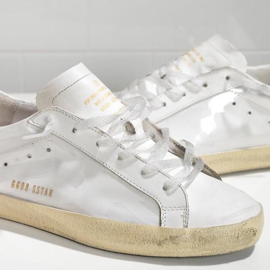 Men Golden Goose superstar in light white sneaker