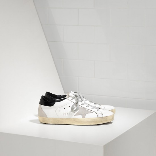 Men Golden Goose superstar in white black cream black sneaker