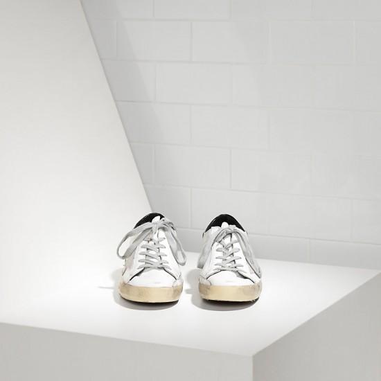 Men Golden Goose superstar in white black cream black sneaker