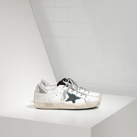 Men/Women Golden Goose superstar in white petroleum star sneaker