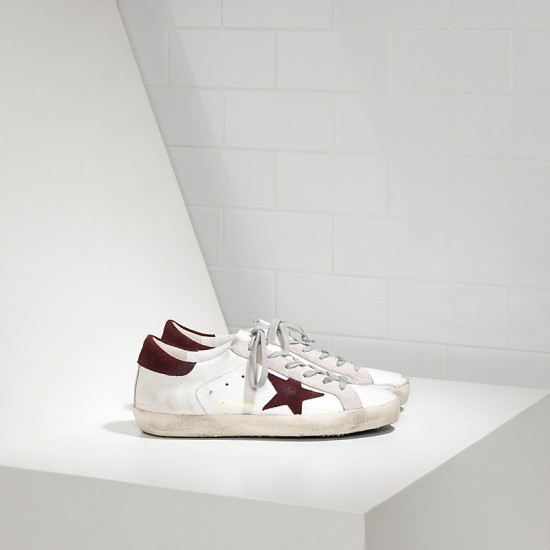 Men/Women Golden Goose superstar in white purple suede sneaker