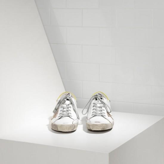 Men/Women Golden Goose superstar in white wasabi sneaker