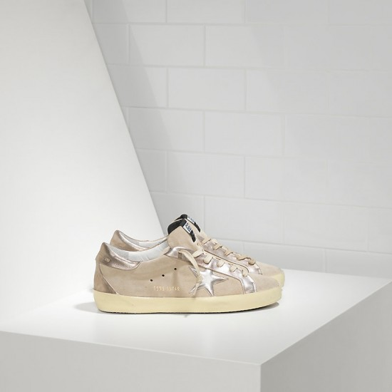 Men/Women Golden Goose superstar leather in beige gold star sneaker