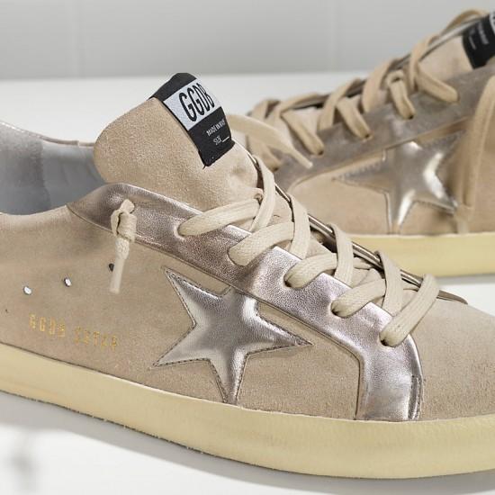 Men/Women Golden Goose superstar leather in beige gold star sneaker