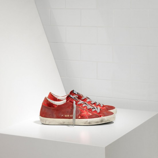 Men/Women Golden Goose superstar leather in laminata red mirror sneaker