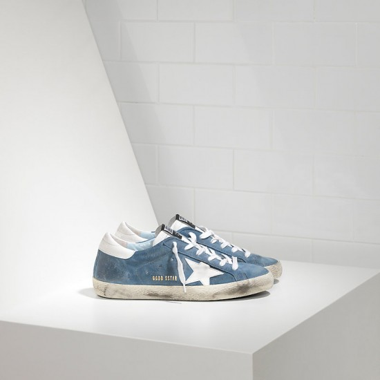 Men/Women Golden Goose superstar leather in suede white star sneaker