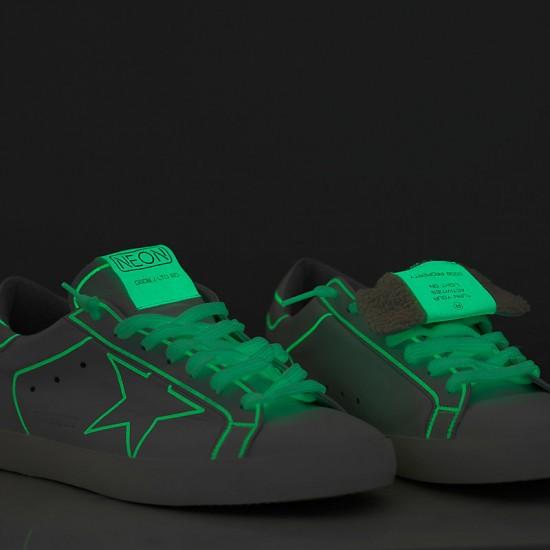 Men/Women Golden Goose superstar neon fluorescente neon sneaker