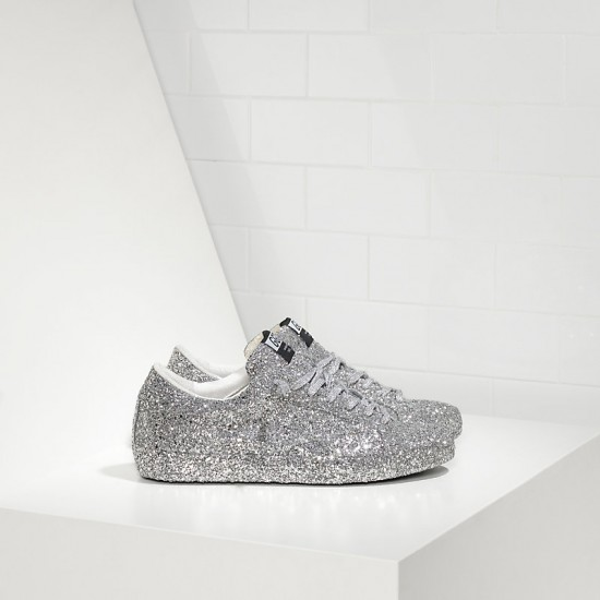 Men/Women Golden Goose superstar ricoperta silver glitter sneaker