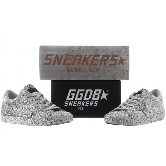 Men/Women Golden Goose superstar ricoperta silver glitter sneaker