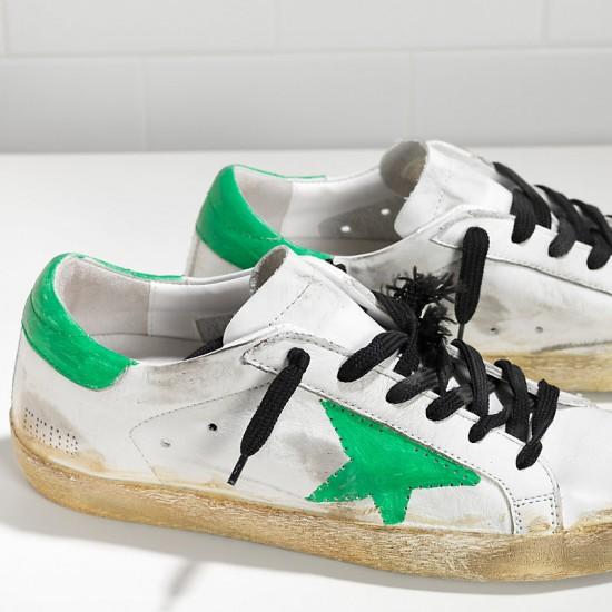 Men/Women Golden Goose superstar traforata white skate paint sneaker