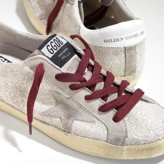 Men/Women Golden Goose superstar white glitter sneaker