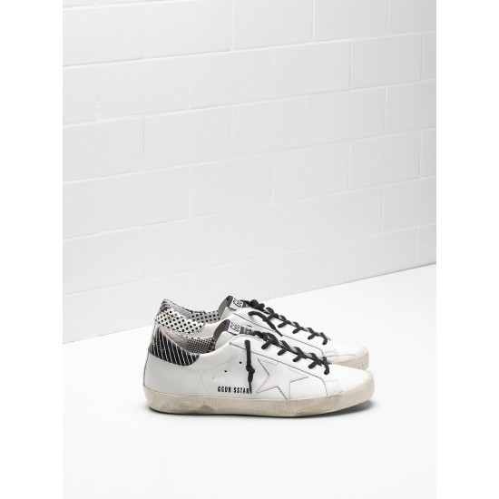 Men/Women Golden Goose superstar calf leather stripe spots sneaker