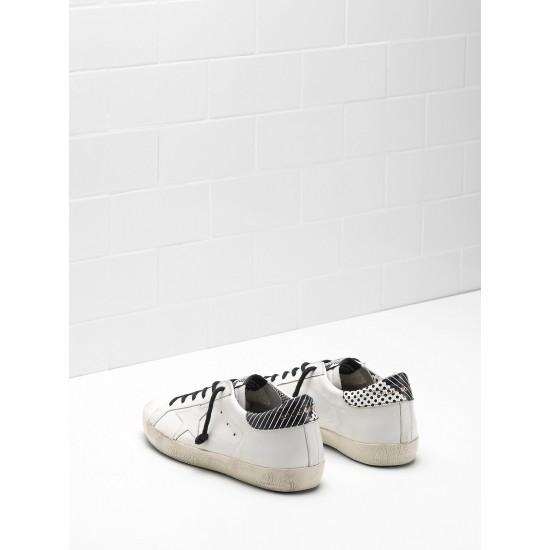 Men/Women Golden Goose superstar calf leather stripe spots sneaker