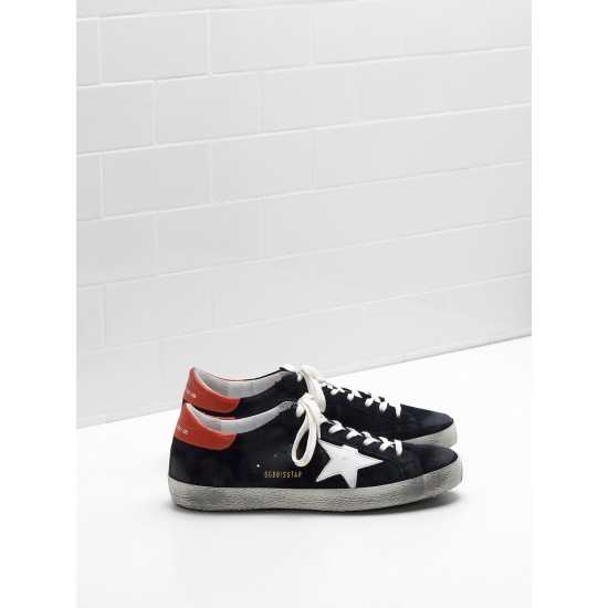 Men Golden Goose superstar calf suede star and in leather sneaker