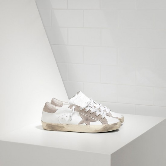 Men/Women Golden Goose superstar suede star white sneaker