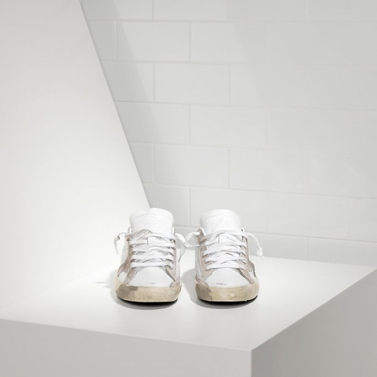 Men/Women Golden Goose superstar suede star white sneaker
