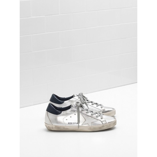 Men/Women Golden Goose superstar in metallic goatskin leather star sneaker