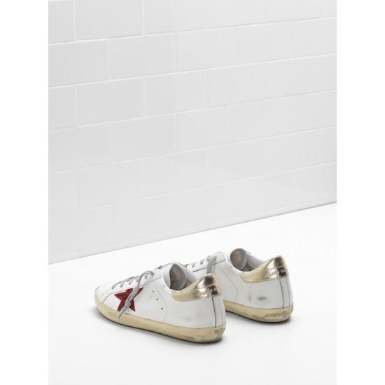 Men/Women Golden Goose superstar leather in red star white sneaker