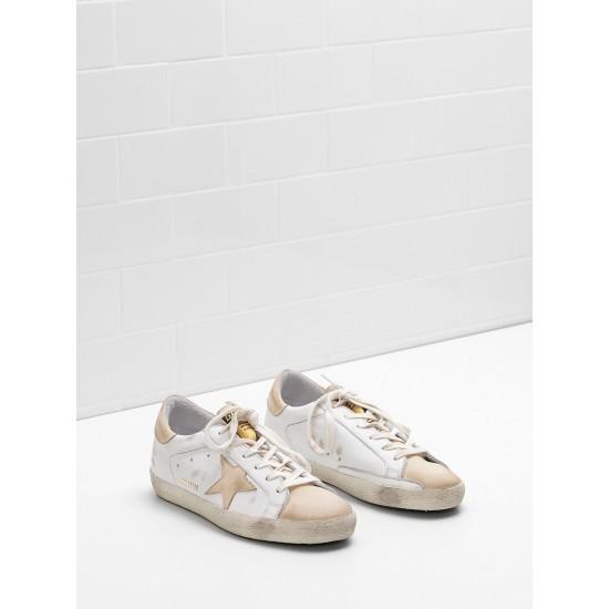 Men/Women Golden Goose superstar leather star in leather khaki sneaker