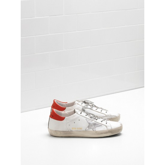 Men/Women Golden Goose superstar leather star in rubber sole sneaker