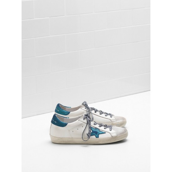 Men/Women Golden Goose superstar leather star in suede leop sneaker