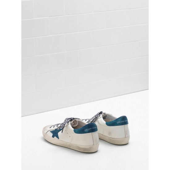 Men/Women Golden Goose superstar leather star in suede leop sneaker