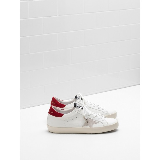 Men/Women Golden Goose superstar leather star in white sneaker