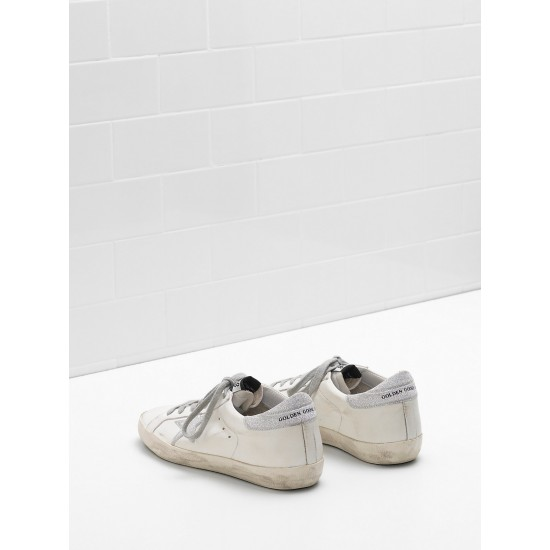 Men/Women Golden Goose superstar leather star with glitter sneaker