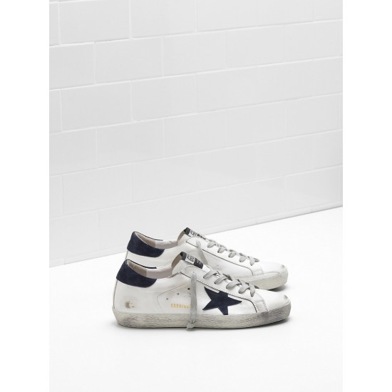Men Golden Goose superstar leather suede black star sneaker