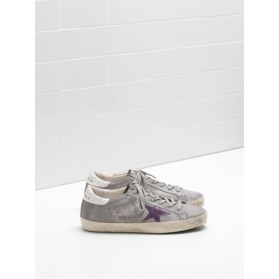Men/Women Golden Goose superstar suede lightly coated in glitter sneaker