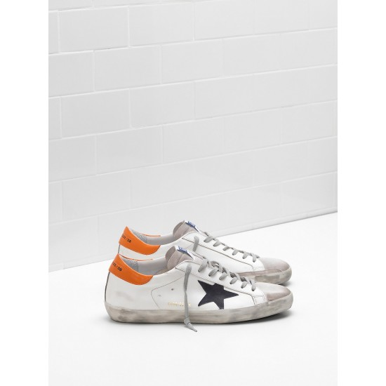 Men Golden Goose superstar leather suede star balck star sneaker