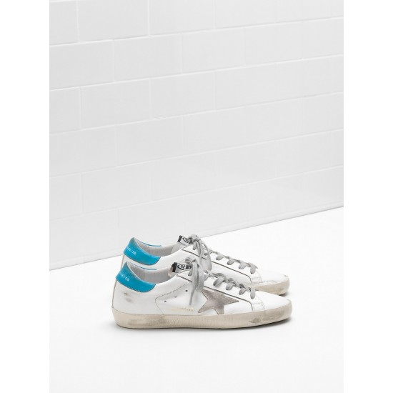 Men/Women Golden Goose superstar suede star logo lettering lack blue sneaker