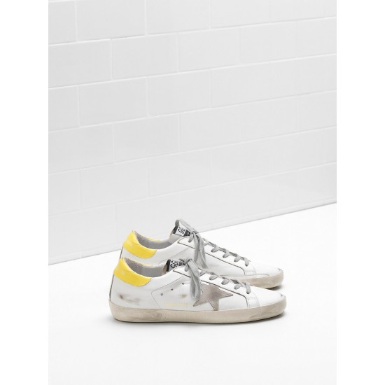 Men/Women Golden Goose superstar leather suede star yellow white sneaker